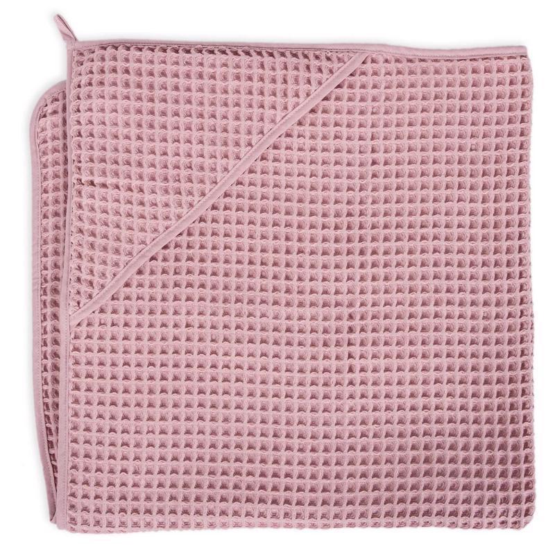 CEBA Osuška s kapucňou Froté Waffle Line 100 x 100 Silver Pink Ceba