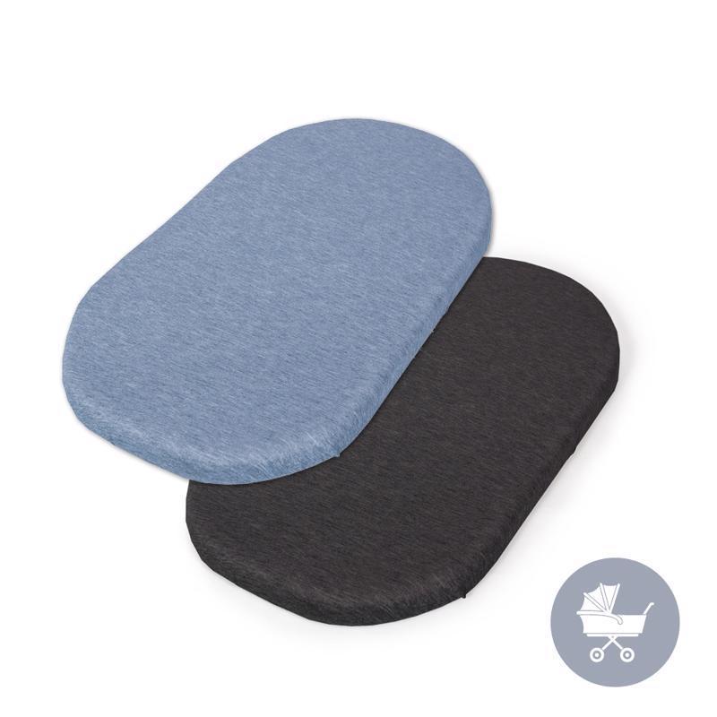 CEBA Plachta do kočíku 73-80 x 30-37 cm 2 ks Dark Grey+Blue