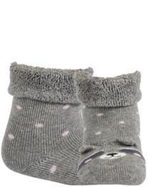 WOLA Ponožky dojčenské froté s uškami dievča Ash 15-17