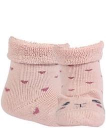 WOLA Ponožky dojčenské froté s uškami dievča Rose 15-17,  V001626