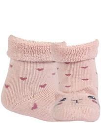 WOLA Ponožky dojčenské froté s uškami dievča Rose 18-20
