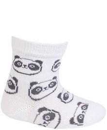 WOLA Ponožky dojčenské bavlnené neutrál Panda White 12-14