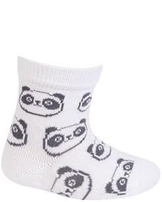 WOLA Ponožky dojčenské bavlnené neutrál Panda White 15-17