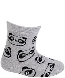 WOLA Ponožky dojčenské bavlnené neutrál Panda Grey 15-17