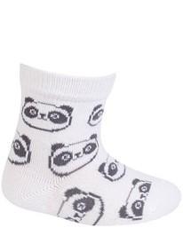 WOLA Ponožky dojčenské bavlnené neutrál Panda White 18-20