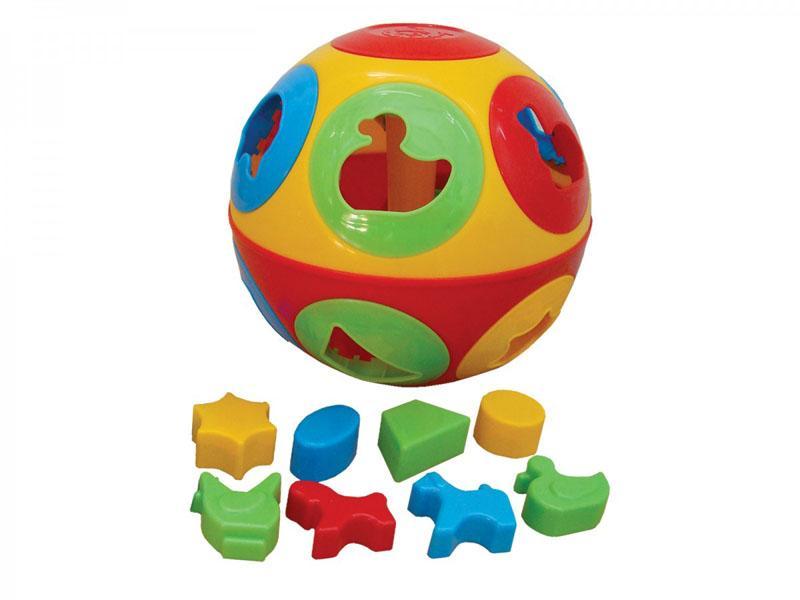 TEDDIES Vkladačka lopta plast priemer 17 cm v sieť 12 m +