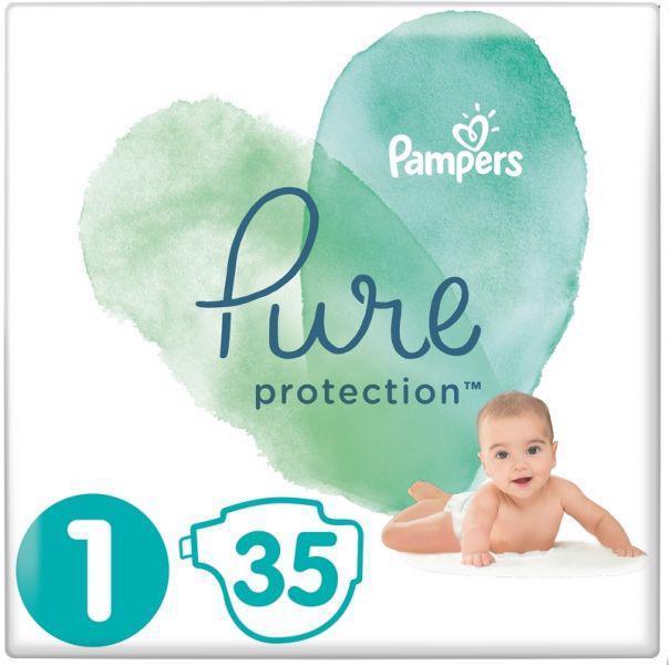 PAMPERS Plienky Pure Protection 1 NEWBORN 2-5kg 35ks