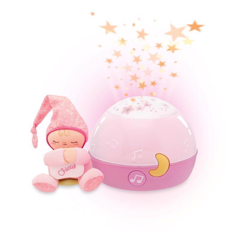 CHICCO Projektor GoodNight Stars - ružový 0m+