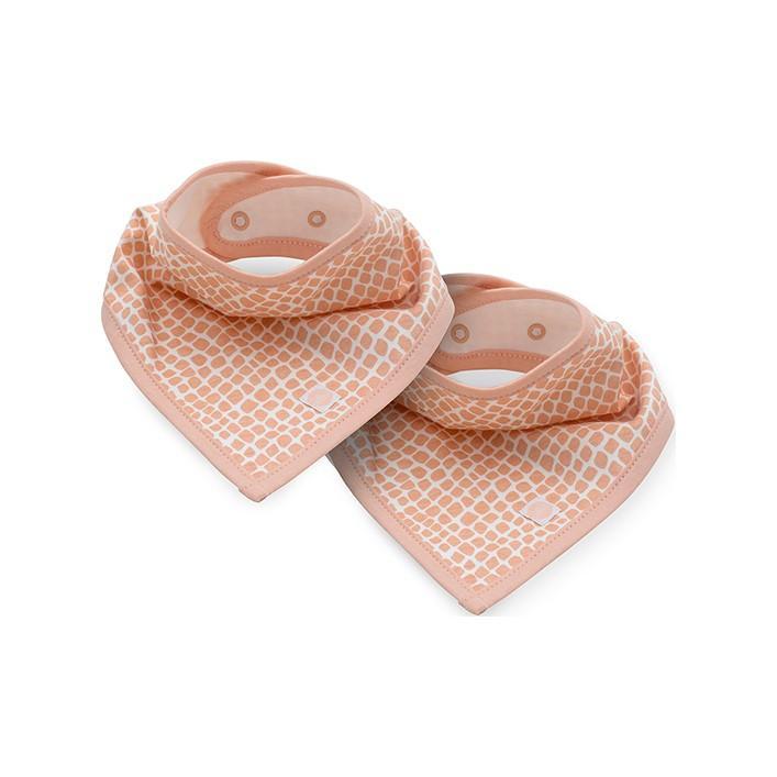 JOLLEIN Podbradník bandana bib Snake pale pink 2 ks