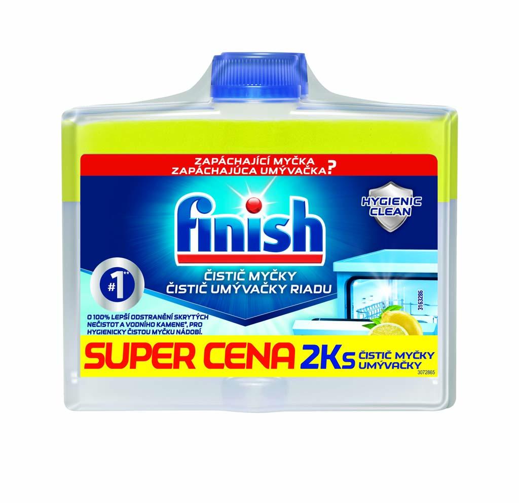 FINISH Čistič umývačky riadu Lemon 250 ml DUO