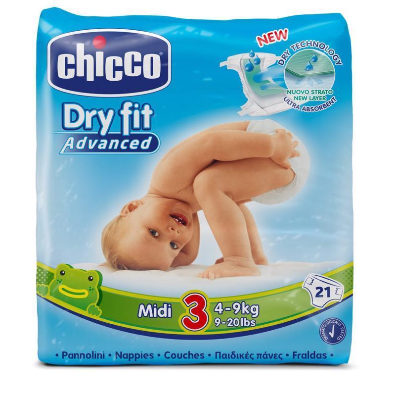 Plienky Chicco Midi 4-9kg 21ks