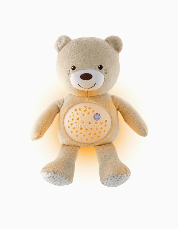 CHICCO Medvedík s projektorom Baby Bear First Dreams - neutral 0m+