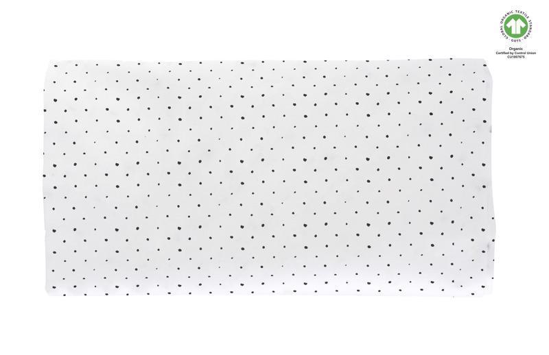 MOTHERHOOD Plachta napínacia s gumičkou BIO Black Dots 60x120 cm