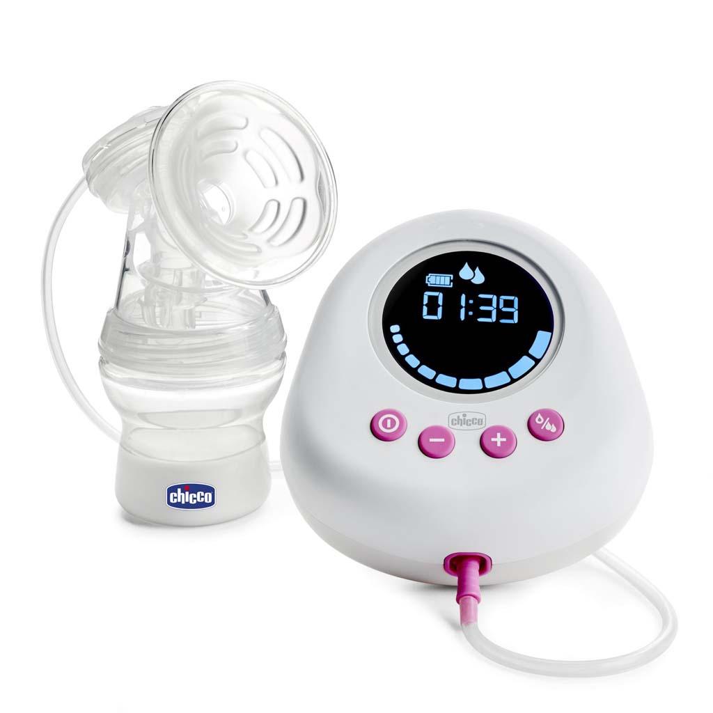 CHICCO Odsávačka materského mlieka elektronická Single pink