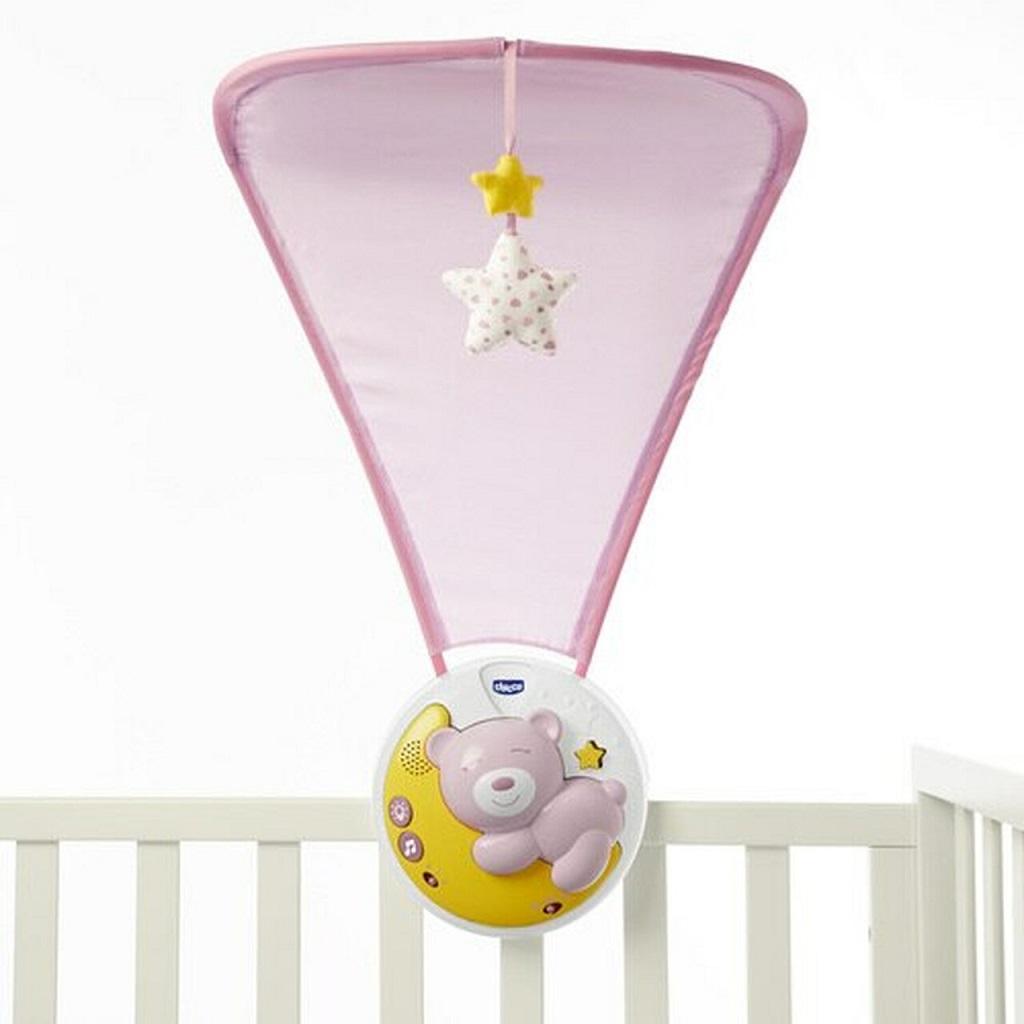Projektor nad postieľku  Next2Moon ružový 0m+