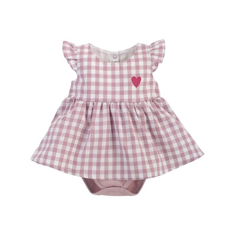 PINOKIO Šaty body Pink Sweet cherry veľ. 74