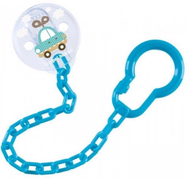 CANPOL BABIES Retiazka na cumlík Toys - modrá