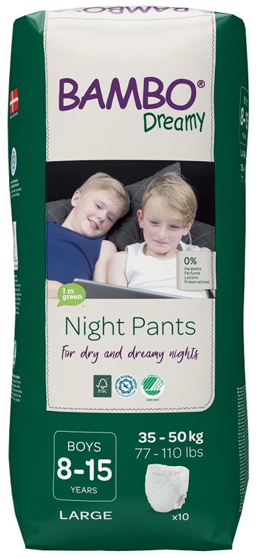 BAMBO Dreamy Night Nohavičky plienkové jednorázové Pants Boy 8-15 rokov, 10 ks, pre 35-50 kg