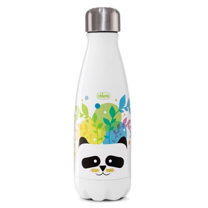 CHICCO Fľaša nerezová termo Chicco Drinky Panda 350 ml