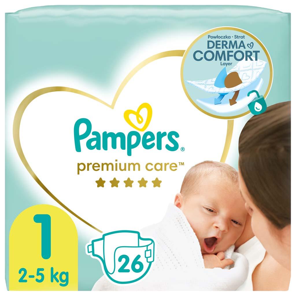 PAMPERS Plienky Premium Care 1 NEWBORN 2-5kg 26 ks