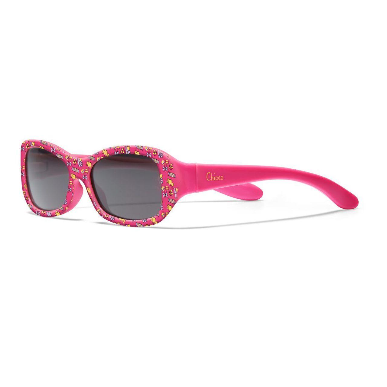 CHICCO Okuliare slnečné dievča ružové 12m+
