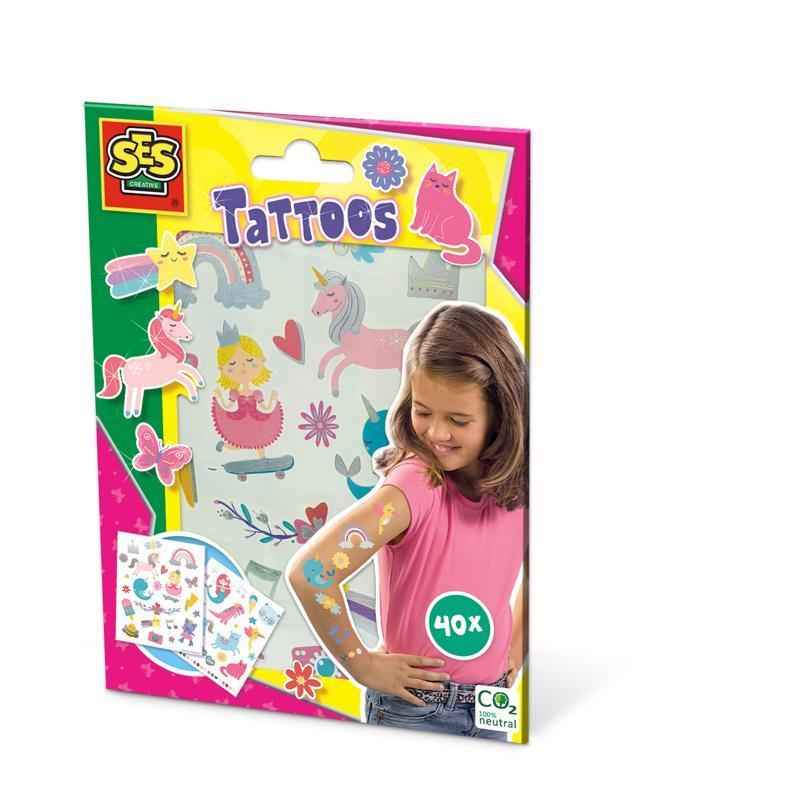 SES Detské tetovanie pre dievčatá, 40 ks