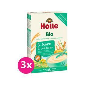 3x HOLLE Kaša nemliečna Bio z 3 druhov zrna 250 g