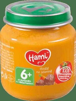 HAMI Príkrm mäsovo-zeleninový Mrkva, zemiaky a hovädzie 125g