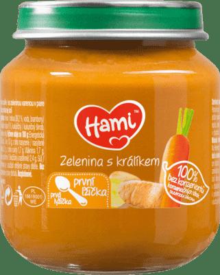 HAMI Zelenina s králikom (125 g) - maso-zeleninový príkrm