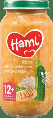 HAMI Príkrm mäsovo-zeleninový Rizoto s morčacími stehienkami, cuketou a hráškom 250g