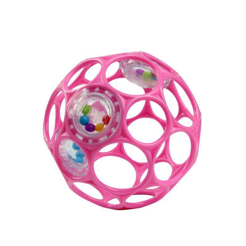 Hračka OBALL RATTLE 10 cm 0m+ dark pink