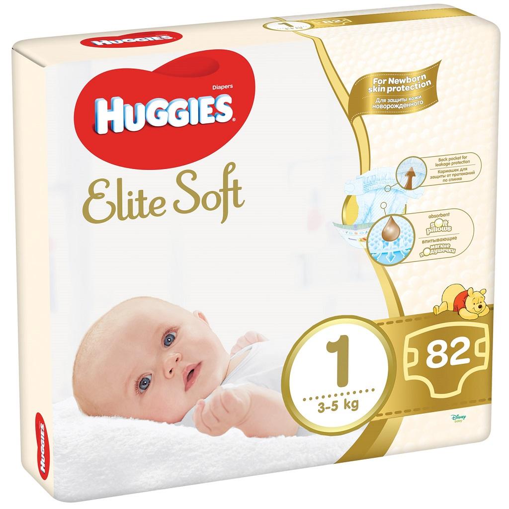 HUGGIES Jednorázové plienky Elite Soft veľ. 1, 82 ks