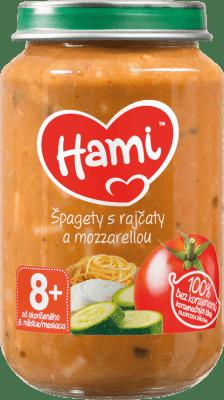 HAMI Špagety s paradajkami a mozarellou (200 g) - zeleninový príkrm
