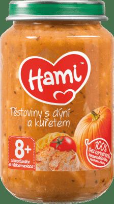 HAMI Príkrm mäsovo-zeleninový Cestoviny s tekvicou a kuracím mäsom 200g