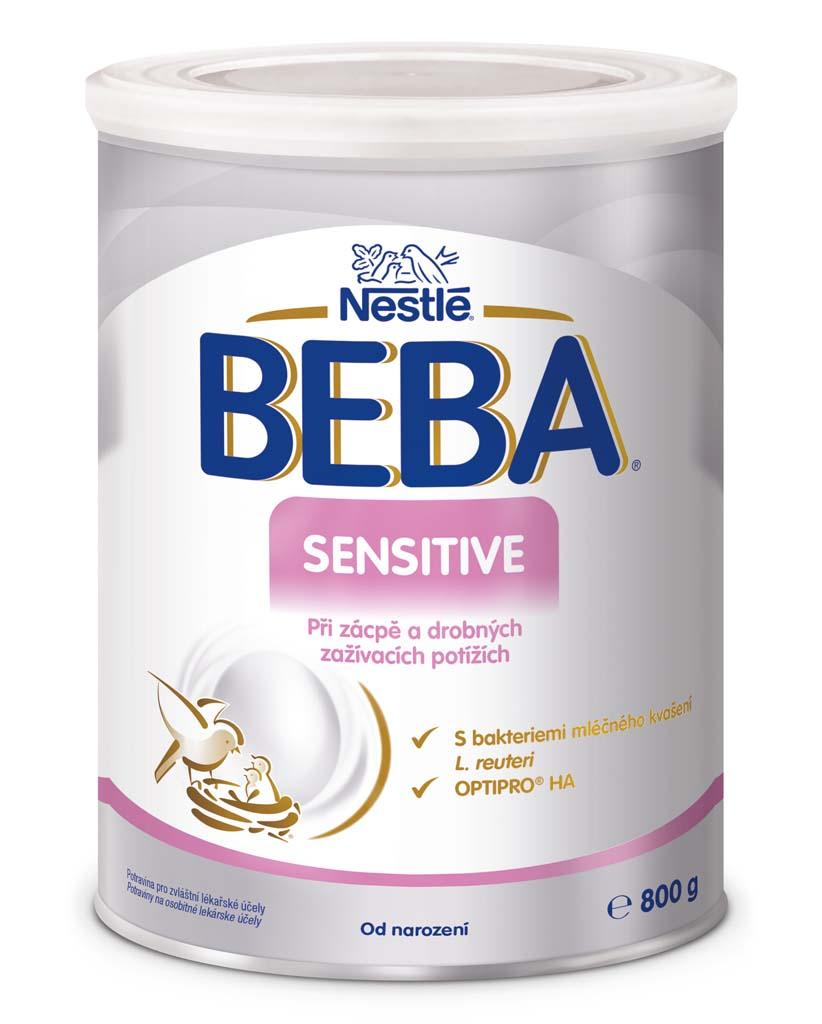 BEBA SENSITIVE, Mliečna počiatočná výživa 800 g