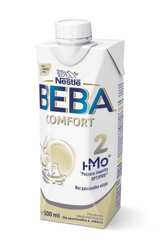 BEBA COMFORT 2 HM-O, Tekutá pokračovacia mliečna výživa 6+, tetra pack, 500 ml