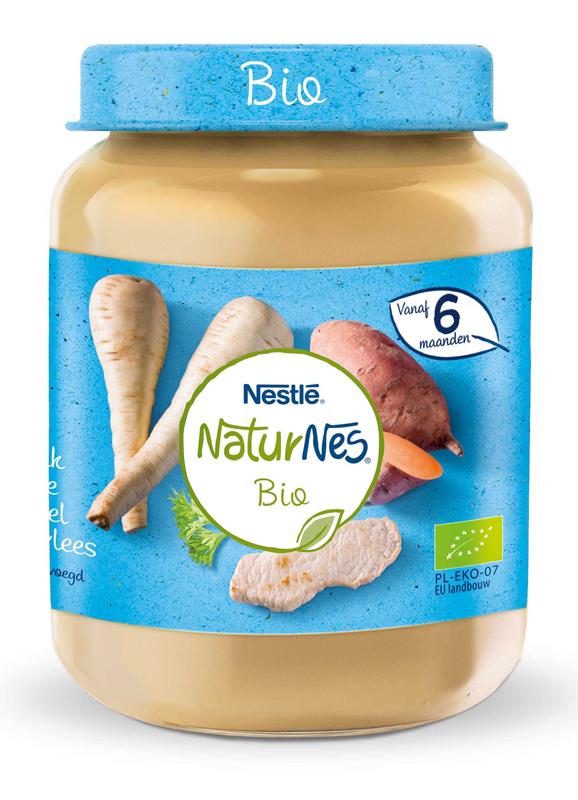 NESTLÉ NaturNes BIO Paštrnák so sladkými zemiakmi a teľacím mäsom 190 g