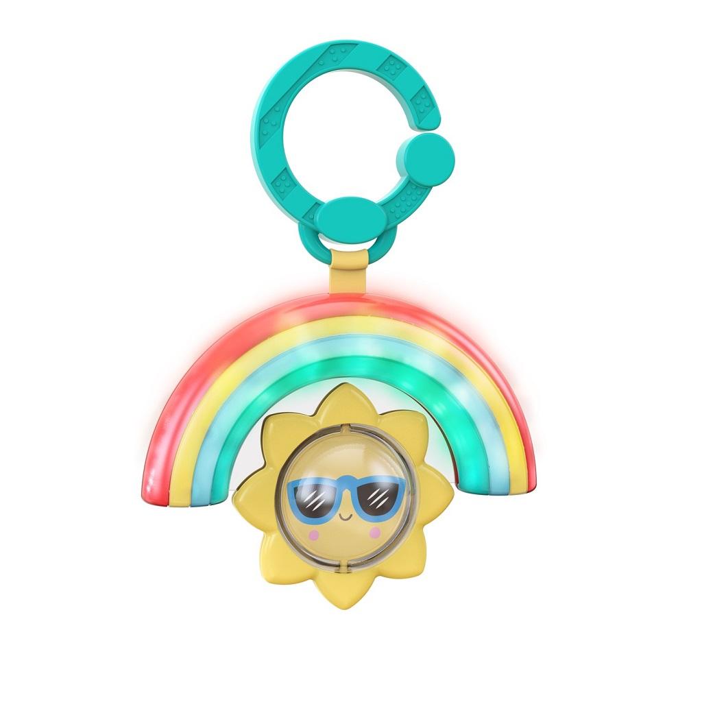 BRIGHT STARTS Hračka na C krúžku hudobná asvetelná Rainbow 3m+