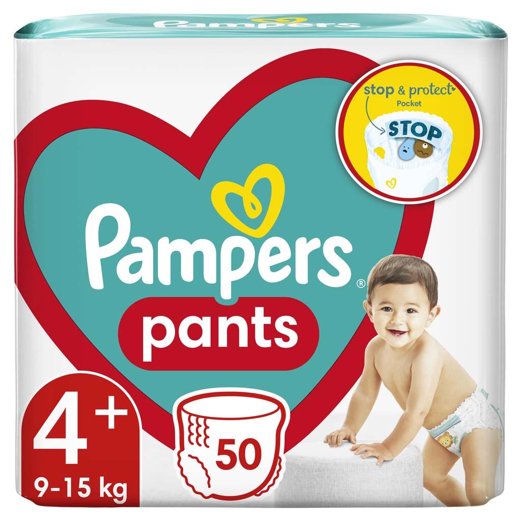 PAMPERS Nohavičky plienkové Active Babydry 4+ MAXI+ 9-15kg 50ks Jumbo Pack