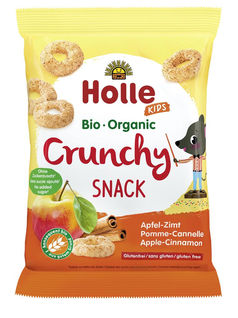 HOLLE Detské Bio Chrumky jablko, škorica, 25 g (3+)