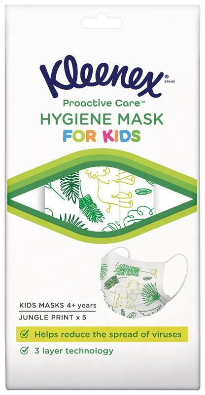 KLEENEX Ochranná tvárová maska pre deti 5 ks