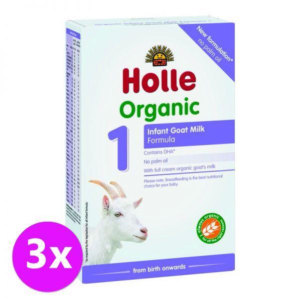 3x HOLLE Bio Detská mliečna výživa na bázi kozieho mlieka 1 počiatočná