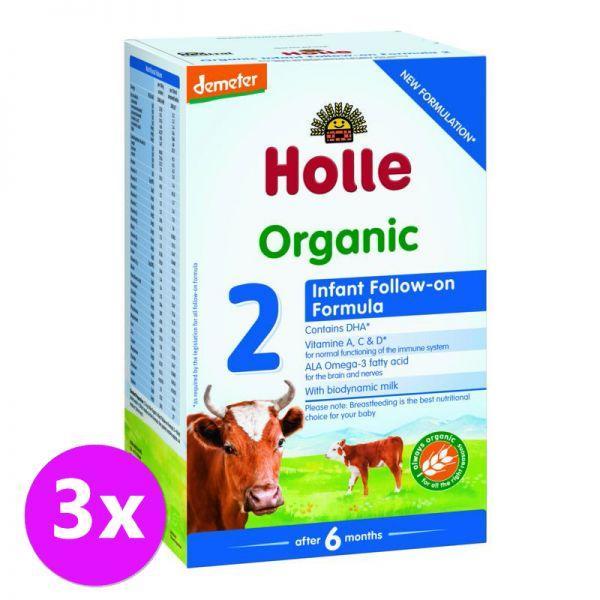 3x HOLLE Bio Detská mliečna výživa 2 pokračovacia