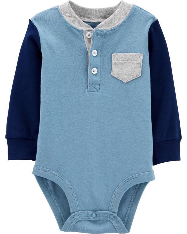 CARTER'S Body dlhý rukáv Blue Henl NB/ veľ. 56