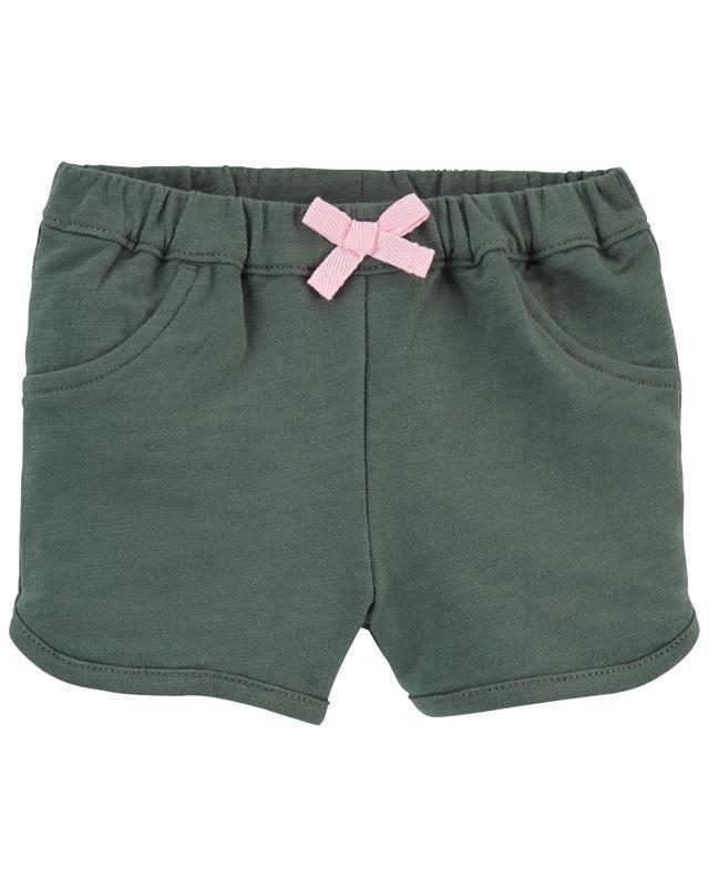 CARTER'S Nohavice krátke Green dievča 24 m, vel. 92