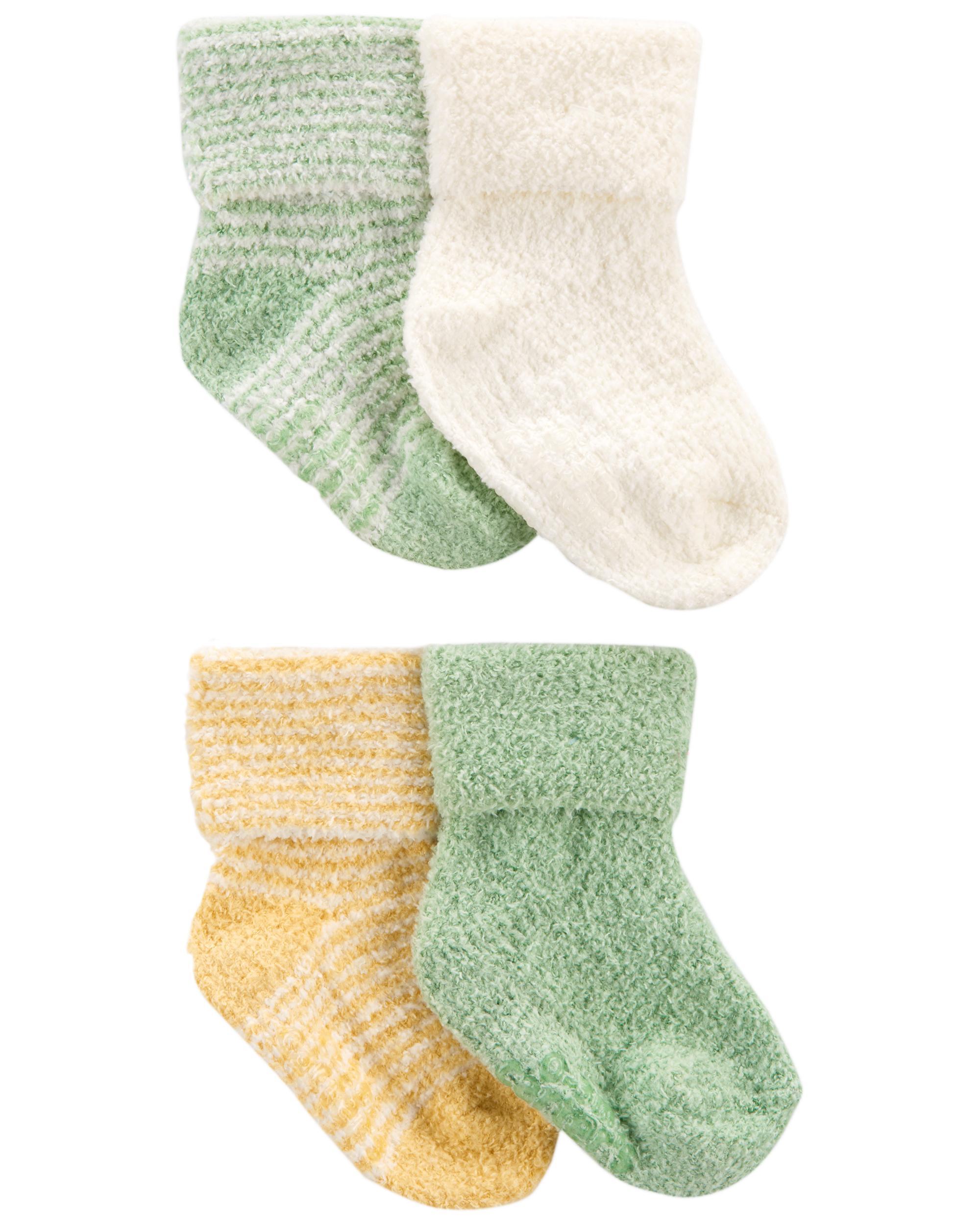 CARTER'S Ponožky Stripes Yellow neutrál LBB 4ks 0-3m