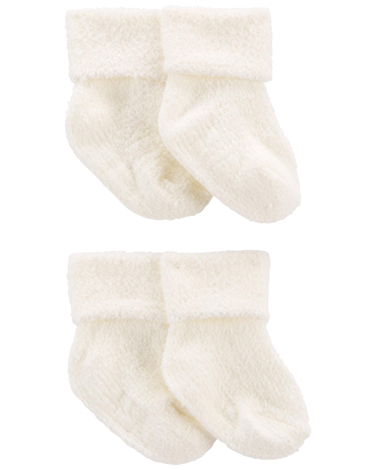 CARTER'S Ponožky White neutrál LBB 4ks 3-12m