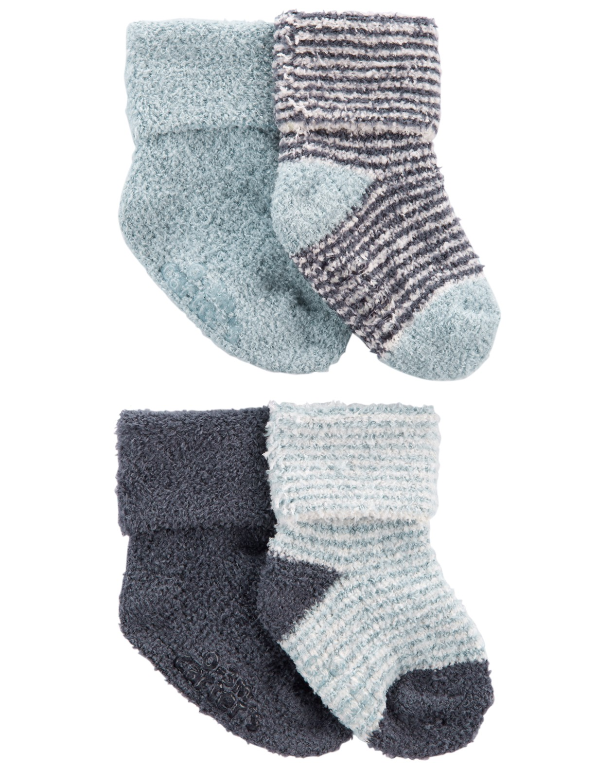 CARTER'S Ponožky Stripes Blue chlapec LBB 4ks NB