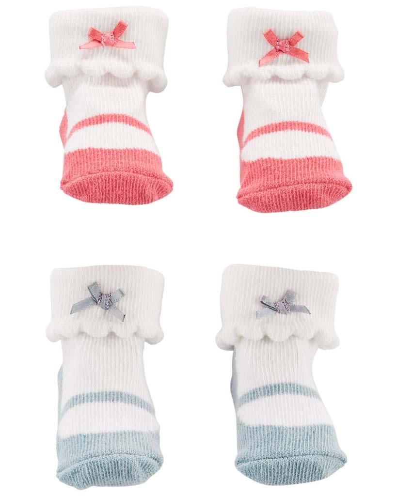 CARTER'S Ponožky dievča LBB 2 páry NB