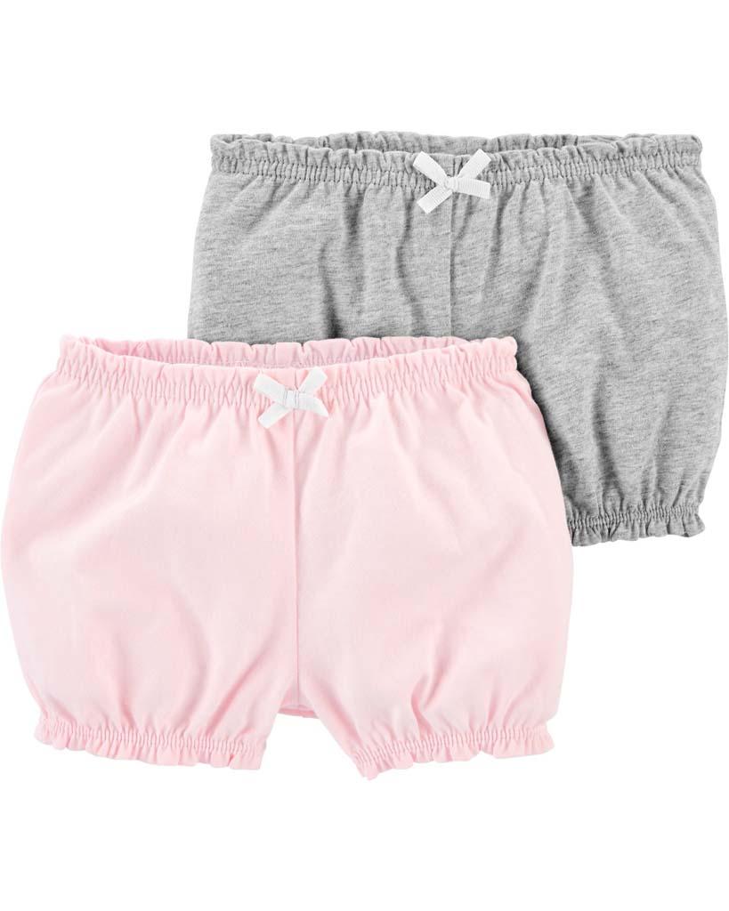 CARTER'S Nohavice krátke dievča LBB 2ks 12m